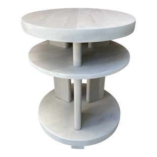 Modern Whitewashed Side Table by Paul Laszlo For Sale
