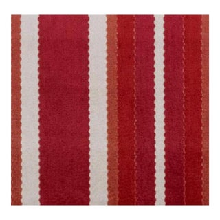 Duralee Hunterdon Red & Clay Stripe Fabric - 1 Yard For Sale