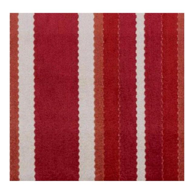 Duralee Hunterdon Red & Clay Stripe Fabric - 1 Yard For Sale