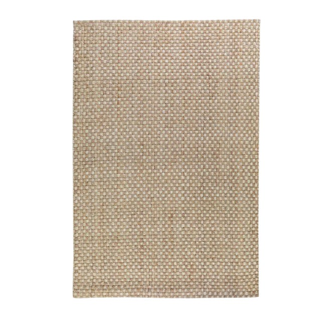 Basket Weave Natural Jute Rug For Sale