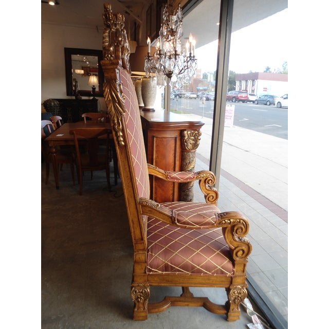 Wooden Throne Arm Chair - Image 3 of 7