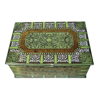 19c Anglo Indian Stationery Campaign Chest With Secret Drawers For Sale