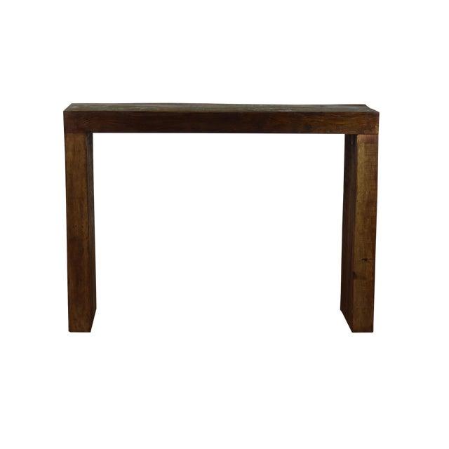 Reclaimed Peroba Wood Handmade Eco-Friendly Bar Table For Sale