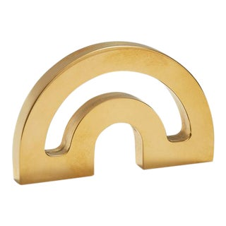 Nest Studio Collection Deco-1.25HC Polished Brass No Lacquer Knob For Sale