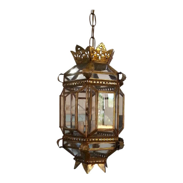 Mid-Century Spanish Colonial Style Chandelier For Sale