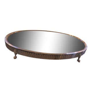 19th Century Silver Plated Plateau Tray For Sale