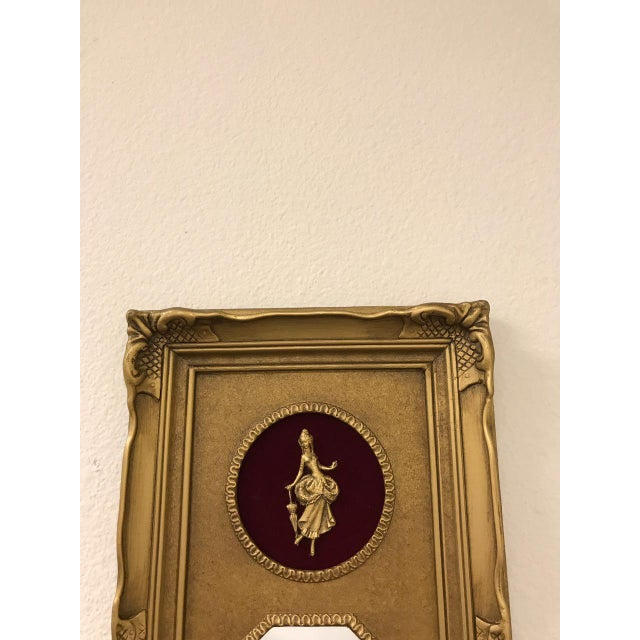 Vintage Neoclassical Gold Gilded Frame Trumeau Mirror For Sale - Image 5 of 10