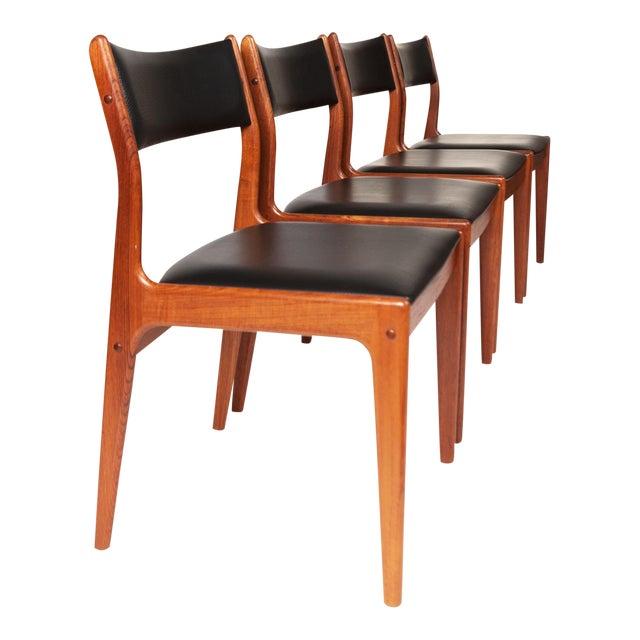 Johannes Andersen Uldum Møbelfabrik Danish Teak Dining Chairs — Set of Four For Sale