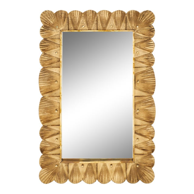 Murano Glass Gold Leaf Mirror For Sale