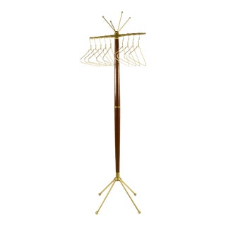 Mid-20th Century Gio Ponti Brass Coat Tree/Rack For Sale