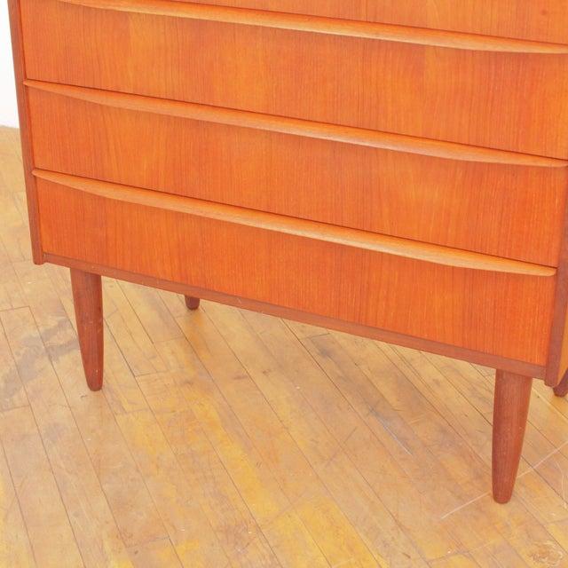 Vintage Danish Teak Highboy Dresser For Sale In San Francisco - Image 6 of 12