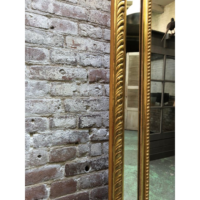 Gold Leaf Pareclose 19th Century Mirror For Sale - Image 7 of 9