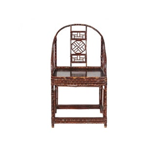 Late 20th Century Modern Chinese Bamboo Arm Chairs- A Pair Preview