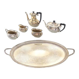 Vintage English Silver Plated Sheffield Tea or Coffee Set of 6 For Sale