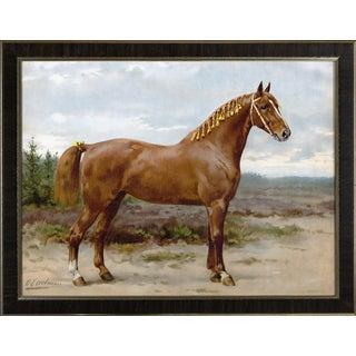 Gelderspaard by Eerelman Framed in Italian Wood Vener Moulding For Sale