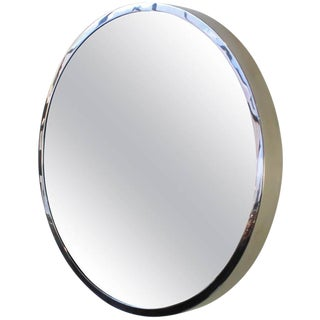 "Polished Stainless Steel ""Oculus"" Mirror For Sale"
