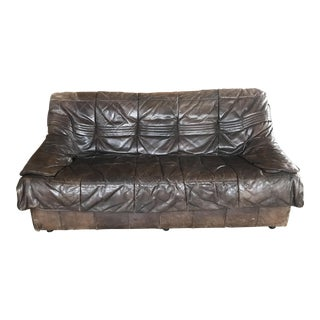 DeSede Brown Leather Loveseat For Sale