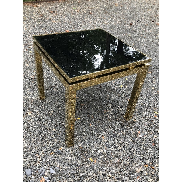 French 1970s French Maison Jansen Brass Occasional Table For Sale - Image 3 of 12