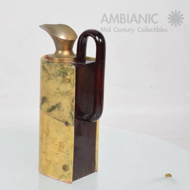 Aldo Tura Aldo Tura Wood & Brass Pitcher For Sale - Image 4 of 10