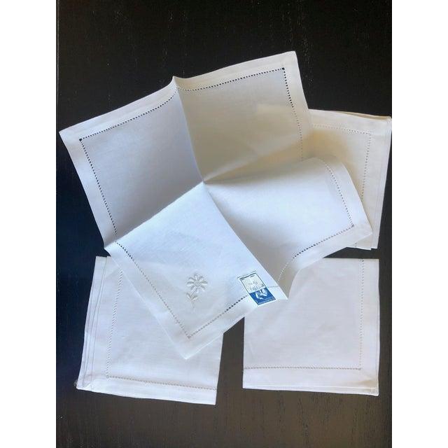 Linen Vintage Linen Luncheon Napkins - Set of 4 For Sale - Image 8 of 12