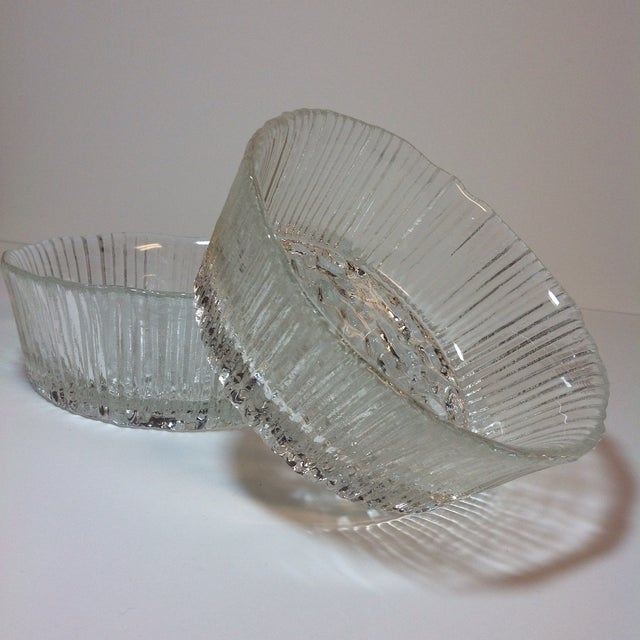 Danish Modern Ice Glass Bowls - A Pair - Image 2 of 5