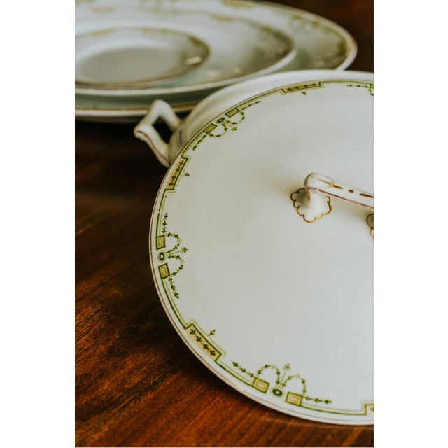 1920s Vintage W. H. Grindley & Co. China Dishes and Serving Platter For Sale - Image 4 of 10