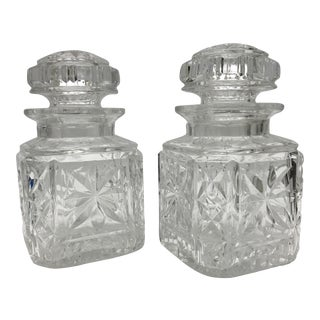 Pair of Crystal English Pickle Jars