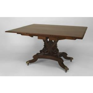 Americana American Empire style (late 19th Cent) mahogany dining table For Sale - Image 3 of 8