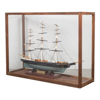 Vintage Handmade Model Ship C.1940-1970 For Sale