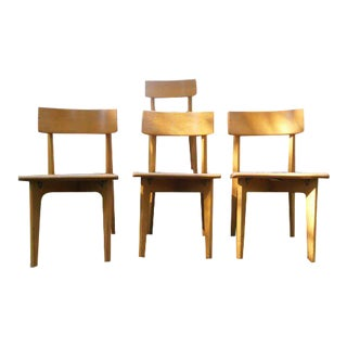 1950s Vintage Gunlocke Dining Chairs- a Set For Sale