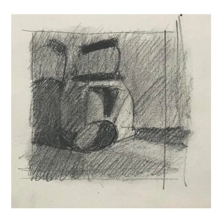Miniature Still Life Drawing of a Kettle 1970s For Sale
