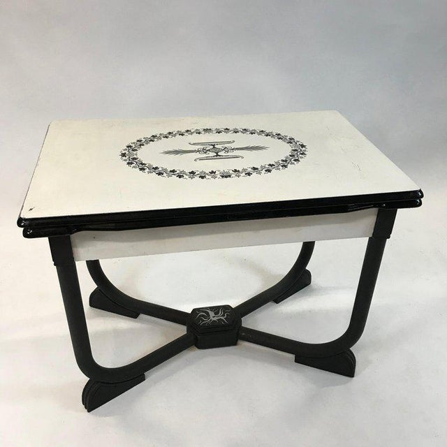 Art Deco 1930s Art Deco Metal Folding Dining Table For Sale - Image 3 of 9