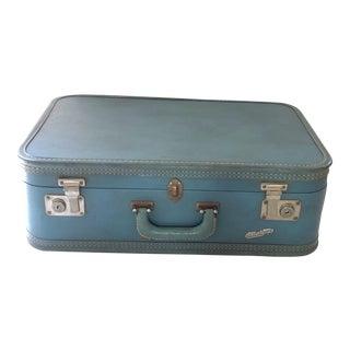 50's Blue Suitcase For Sale