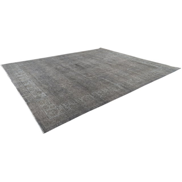Contemporary Grey Overdyed Wool Room-Size Rug For Sale - Image 10 of 12