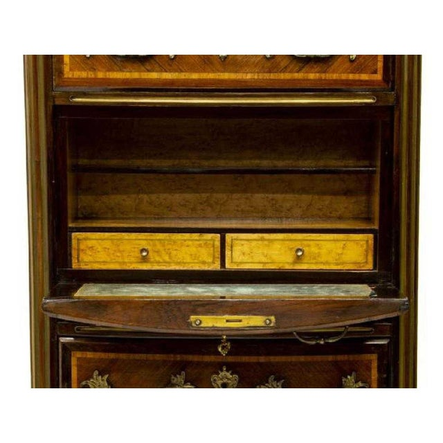 20th Century French Regency Style Marble & Rosewood Secretary Desk For Sale - Image 4 of 5