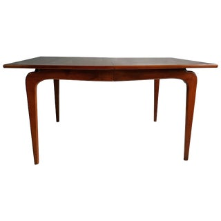 Classic Modernist Walnut Dining Table Lane Perseption For Sale