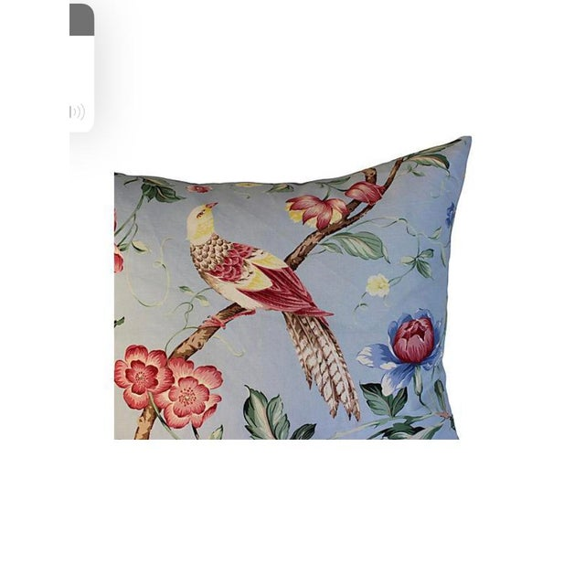 Scalamandre Floral & Bird Chinoiserie Pillows - a Pair For Sale - Image 4 of 7
