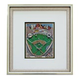 Image of Contemporary Framed I Heart Baseball 3d Serigraph Signed Charles Fazzino 147/200 For Sale