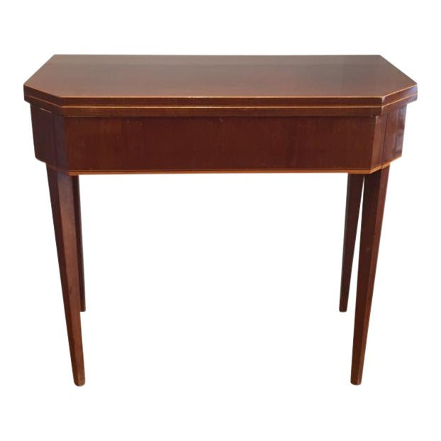 19th Century Biedermeier Mahogany Game Table For Sale