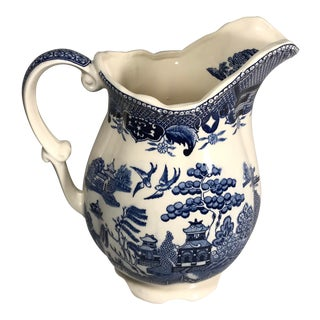 Vintage Delft Blue and White Porcelain Pitcher Milk Jug Marked For Sale