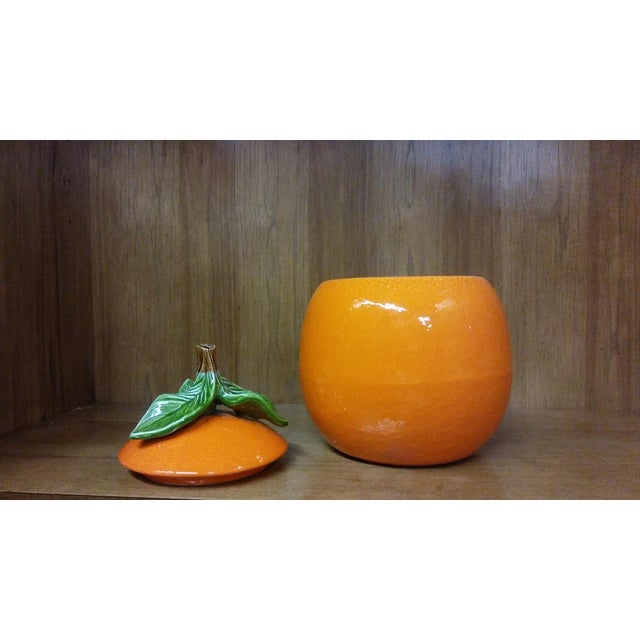 Vintage California Originals Orange Cookie Jar For Sale - Image 4 of 9