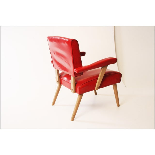 Mid Century Modern Red Viking Artline Slipper Chair For Sale - Image 4 of 11