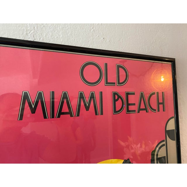 Old Miami Beach Serigraph by Woody Vondracek Signed and Numbered 194/200 For Sale - Image 4 of 6