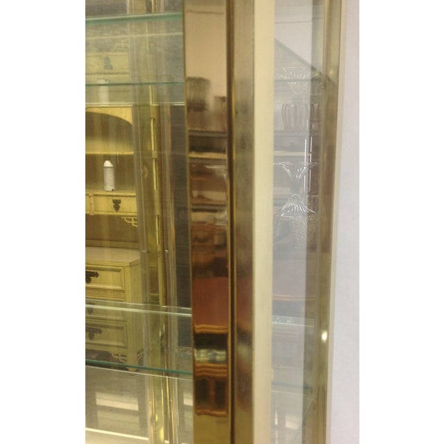 1980's Style Brass and Glass Cabinet - Image 8 of 8