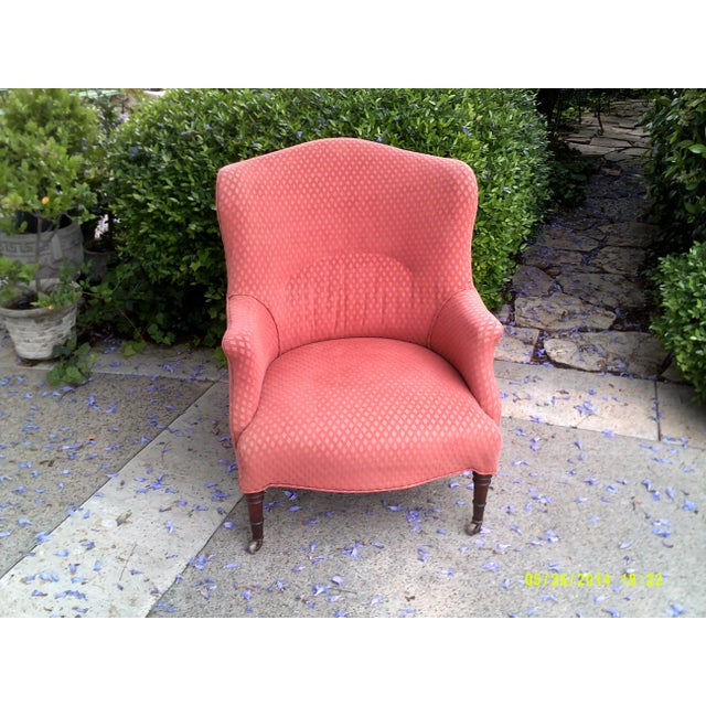 Late 18th Century English Red Wingback Chair For Sale - Image 5 of 5
