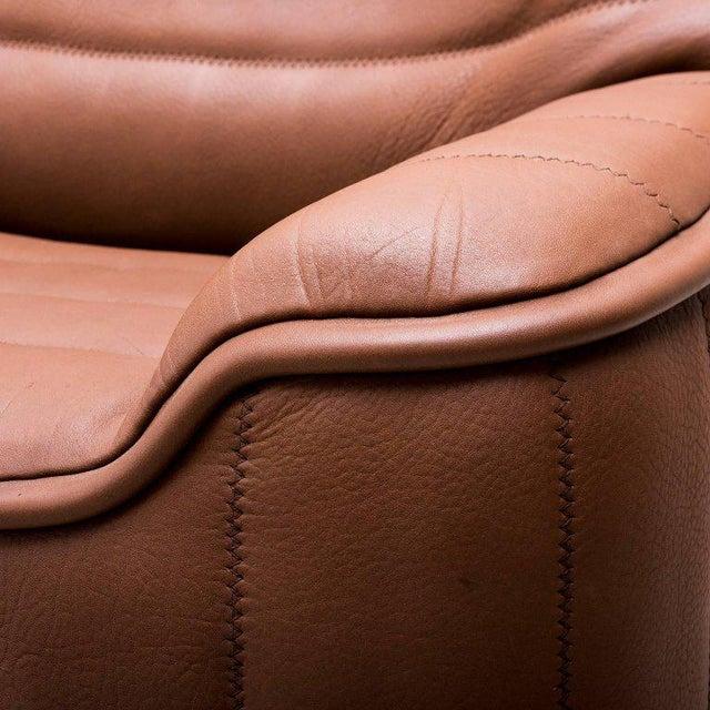 Pristine Original De Sede Model Ds84 Sofa in Cognac Buffalo Leather, 1970s - Image 6 of 7