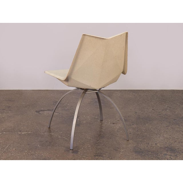 Paul McCobb Paul McCobb White Origami Chair on Spider Base For Sale - Image 4 of 9