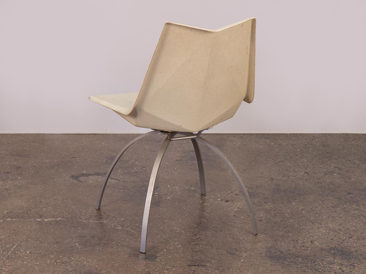Paul McCobb Paul McCobb White Origami Chair On Spider Base For Sale   Image  4 Of
