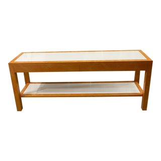 1980s Parsons Console Table with Drawers For Sale