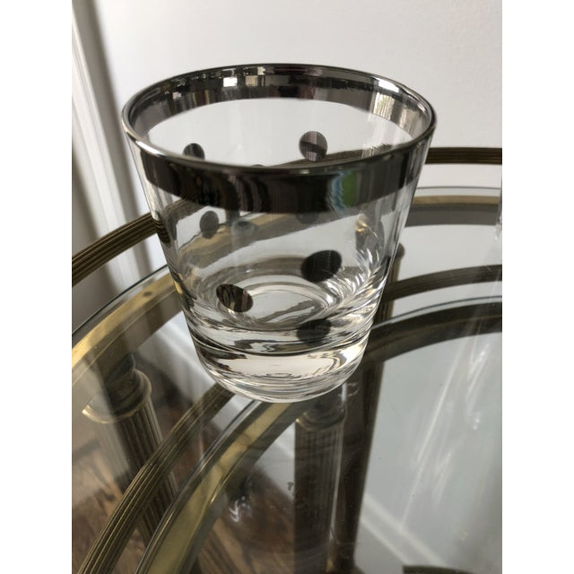 Mid-Century Modern Dorothy Thorpe Polka Dot Glasses - Set of 6 For Sale - Image 3 of 5
